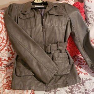 Calvin Klein faux-leather jacket.
